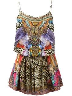 мини-платье с блестящей отделкой Camilla