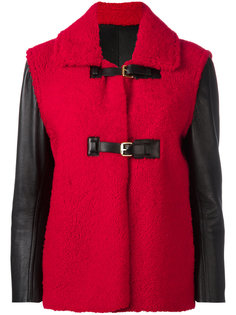 buckled shearling jacket Louis Vuitton Vintage