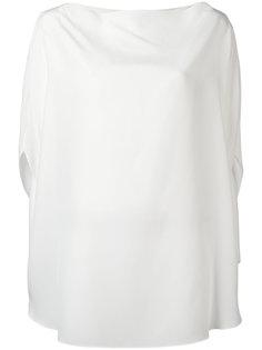 блузка с вырезом-лодочкой Jil Sander
