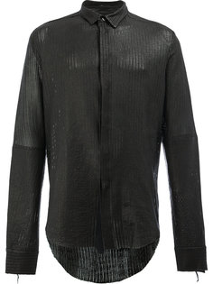 кожаная рубашка Cedric Jacquemyn