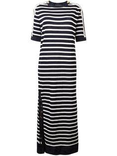 длинное платье в полоску Alberta Ferretti