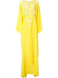 платье-кафтан с разрезом на груди Oscar de la Renta