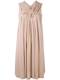 платье-шифт с присборенной деталью Nº21