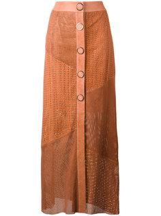 длинна юбка с перфорацией Drome