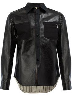 кожаная куртка-рубашка Junya Watanabe Comme Des Garçons Man
