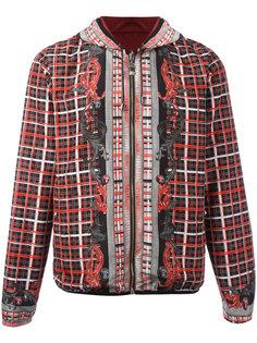 checked print hooded jacket  Versus