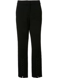 узкие брюки со шнуровкой Yigal Azrouel