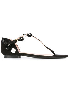 сандалии с цветочной аппликацией Boutique Moschino