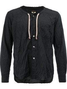 рубашка без воротника на завязках Comme Des Garçons Homme Plus