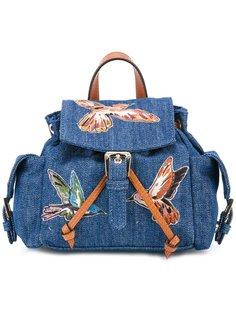 джинсовый мини рюкзак Red Valentino