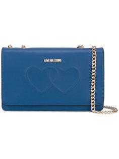 сумка на плечо с откидным клапаном Love Moschino