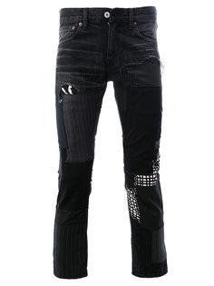 укороченные брюки в тонкую полоску Junya Watanabe Comme Des Garçons Man