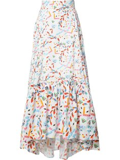 abstract printed maxi skirt Peter Pilotto
