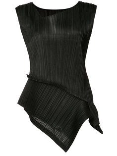 asymmetric pleated blouse  Issey Miyake