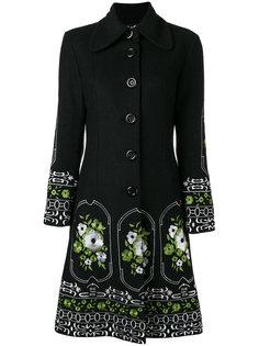 flower embroidered coat Dolce & Gabbana Vintage