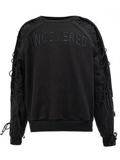 lace-up sleeves sweatshirt Juun.J