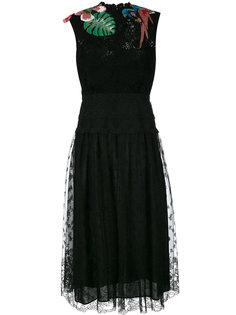 кружевное платье с вышивкой  Valentino