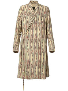 striped wrap coat Uma Wang