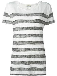 полосатая футболка с короткими рукавами Saint Laurent