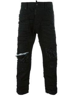 рваные джинсы Glam Head в стиле пэчворк Dsquared2