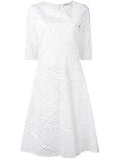 расклешенное платье с мятым эффектом Jil Sander
