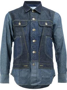джинсовая рубашка с нагрудными карманами Ganryu Comme Des Garcons
