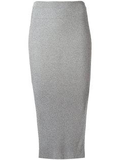 юбка ребристой вязки Mugler
