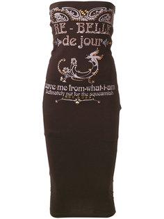 embelished tube dress Dolce & Gabbana Vintage