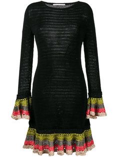 knitted ruffle cuff dress Marco De Vincenzo