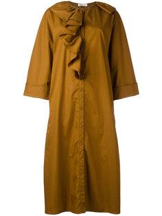 платье-рубашка с оборками Nina Ricci