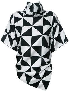 блузка с геометрическим принтом Monse
