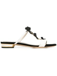 embellished bows flat sandals René Caovilla