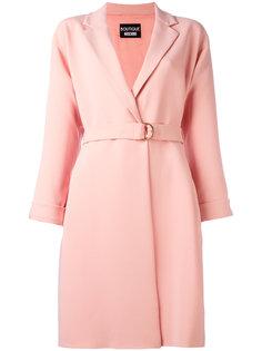 классическое пальто с поясом Boutique Moschino