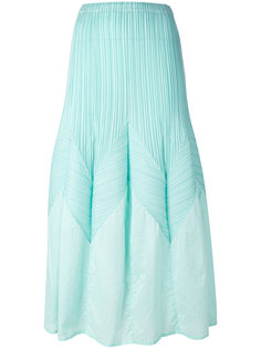 long a-line pleated skirt Issey Miyake Vintage