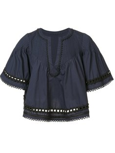 укороченная расклешенная блузка Derek Lam 10 Crosby