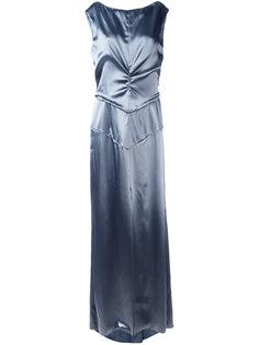 атласное вечернее платье Nina Ricci