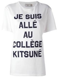 футболка с принтом надписи Maison Kitsuné