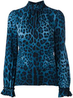 leopard print blouse Dolce & Gabbana Vintage