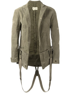 suspender effect blazer Greg Lauren