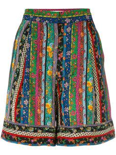 полосатые шорты с цветочным узором Philosophy Di Lorenzo Serafini