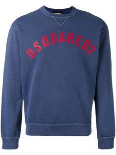 vintage effect logo sweatshirt Dsquared2