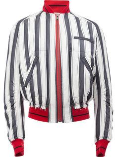 striped bomber jacket Haider Ackermann