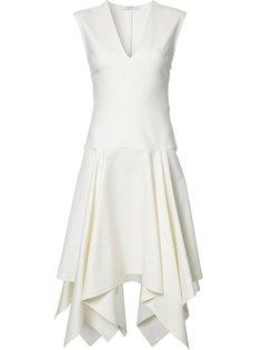 асимметричное платье с V-образным вырезом Derek Lam 10 Crosby