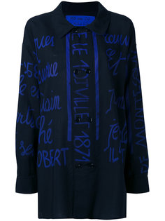 handwritting printed shirt Jc De Castelbajac Vintage