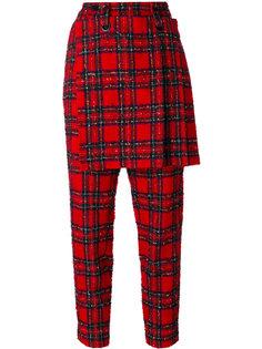 tartan skirt trousers Yohji Yamamoto Vintage