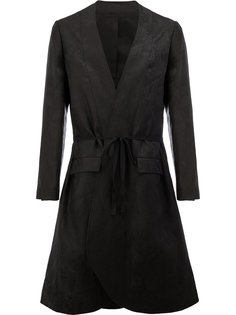 jacquard belted coat Aganovich