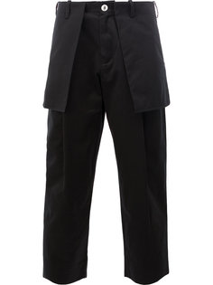 external pockets cropped trousers Aganovich