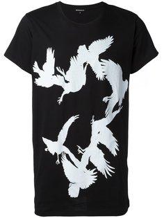 bird print T-shirt Ann Demeulemeester Blanche
