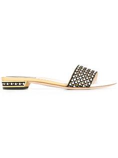 gold-tone detailing flat sandals René Caovilla