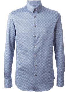 приталенная рубашка с принтом  Giorgio Armani